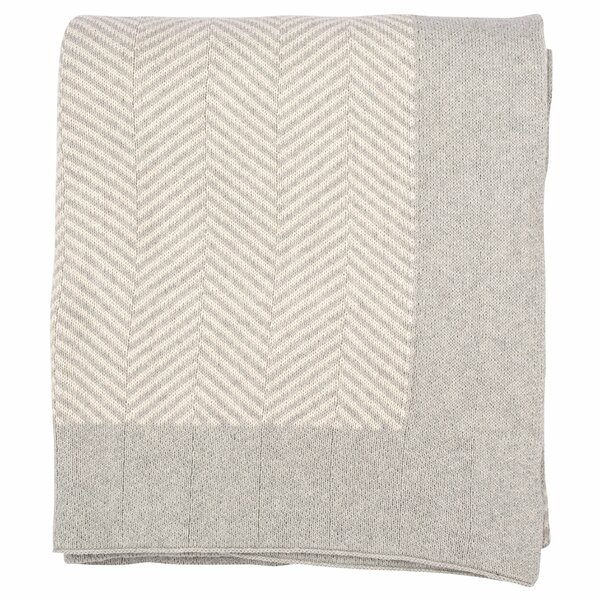 Herringbone 100% Cotton Throw by Darzzi